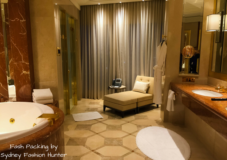 Fash Packing by Sydney Fashion Hunter: Crown Towers Melbourne Deluxe Villa Review - Bathroom