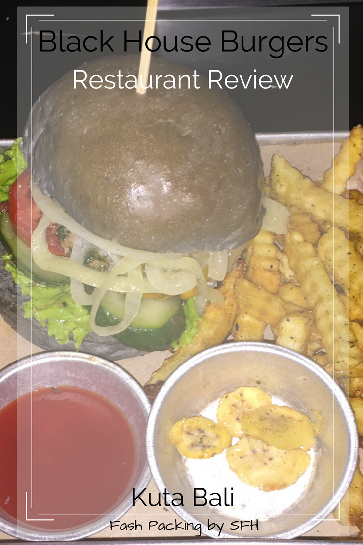 Fascinated by the black burger bun craze? Try it out at Black House Burgers in Kuta Bali. Full review here http://bit.ly/black-house