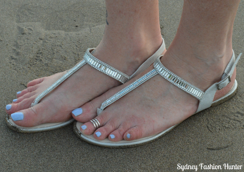 London Rebel Crystal Sandals