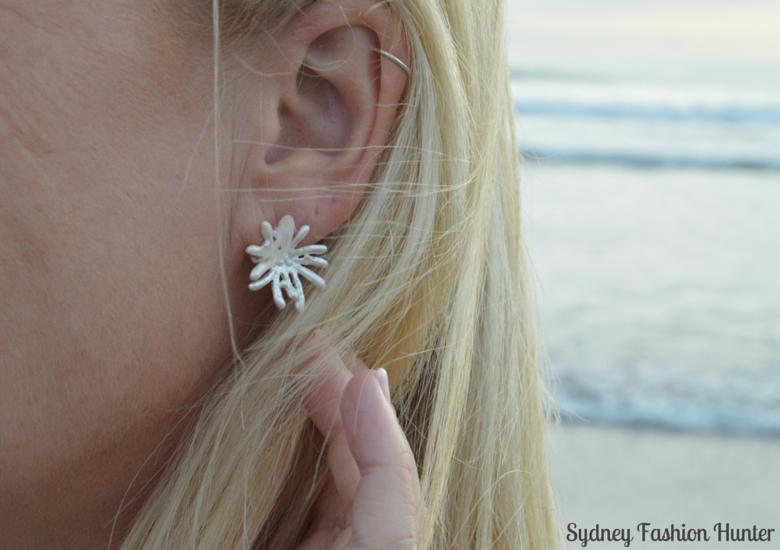 Silver Coral Earrings
