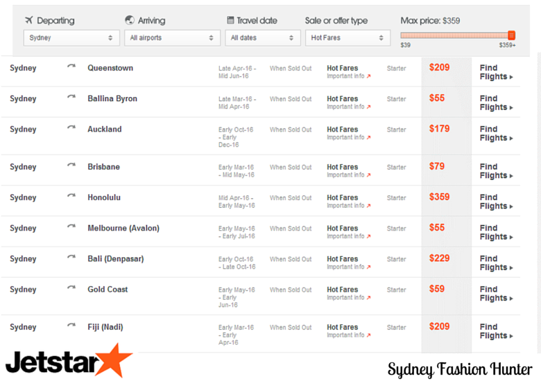 Jetstar Sale Destinations