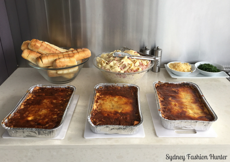 Diner: Lasagne, Papardelle Carbonara & Garlic Bread