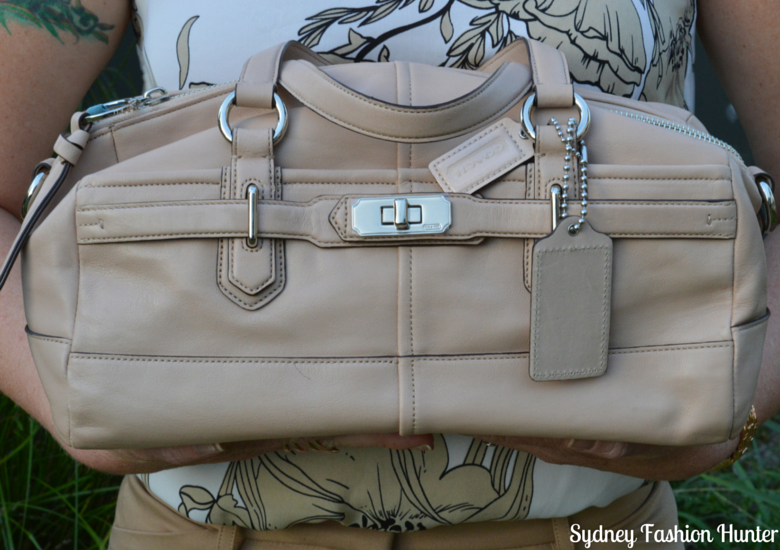 Sydney Fashion Hunter Fresh Fashion Forum #27 - Nude Coach Bag