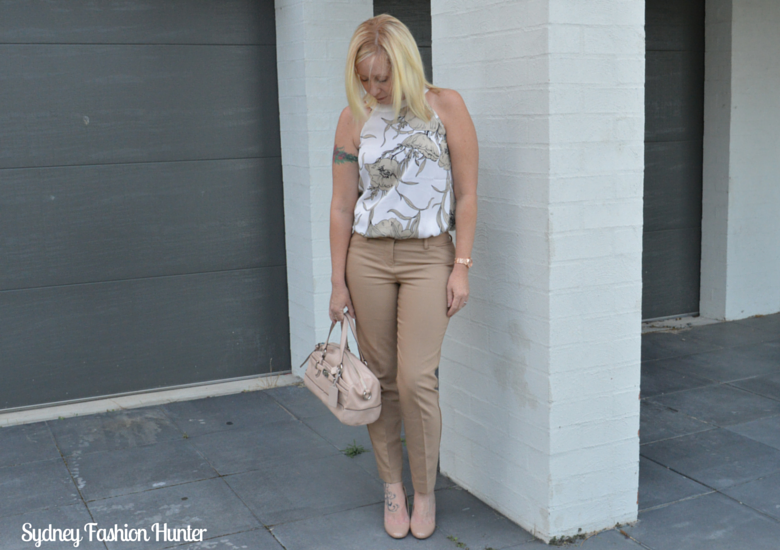 Sydney Fashion Hunter Fresh Fashion Forum #27 - Camel Pants + Floral Top