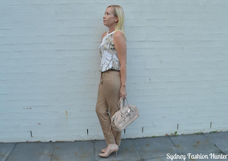 Sydney Fashion Hunter Fresh Fashion Forum #27 Camel Pants + Floral Top