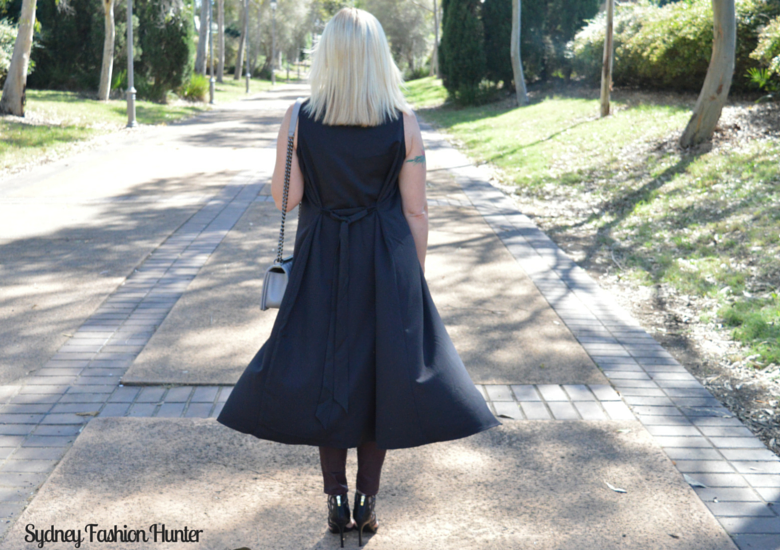 Sydney Fashion Hunter: Fresh Fashion Forum #28 SheIn Sleeveless Trench - Back