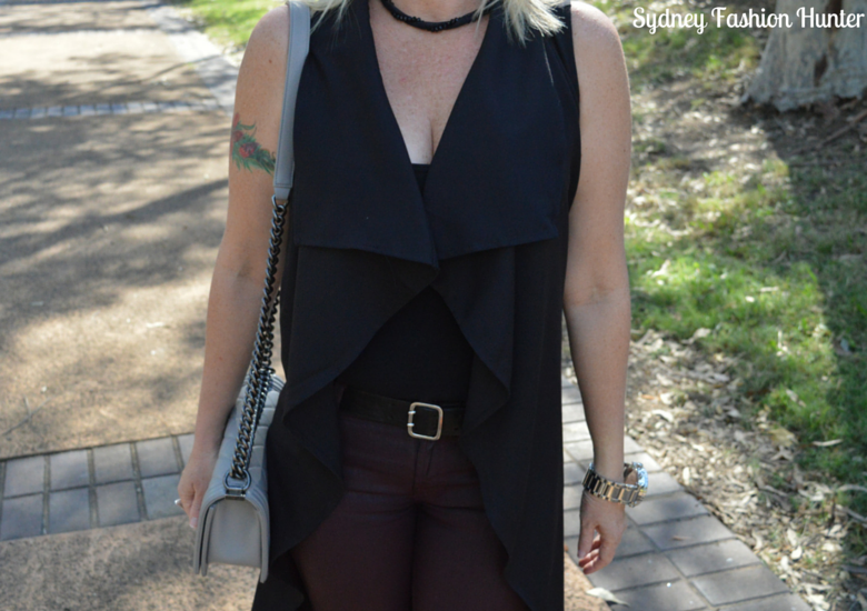 Sydney Fashion Hunter: Fresh Fashion Forum #28 SheIn Sleeveless Trench - Trench Draped Front