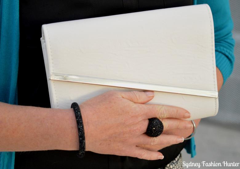 Sydney Fashion Hunter: Fresh Fashion Forum 33 - Custom Made Prada Pumps - White Clutch Black Jewellery