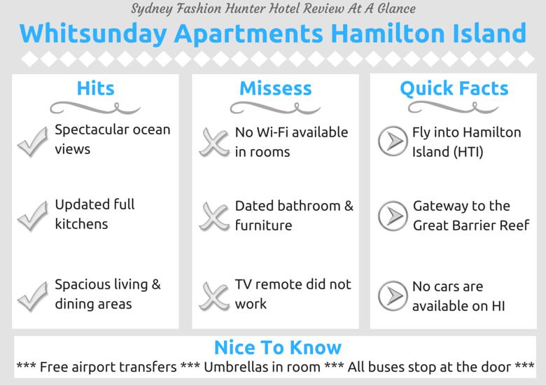Sydney Fashion Hunter Hotel Review At A Glance - Whitsunday Apartments Hamilton Island