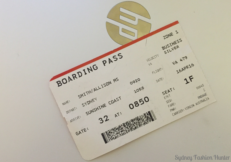 Sydney Fashion Hunter: Sunshine Coast Long Weekend - Boarding Pass