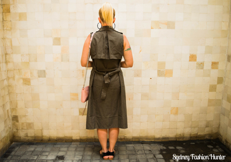 Sydney Fashion Hunter: Fresh Fashion Forum No 41 - Khaki Sleeveless Trench - Back
