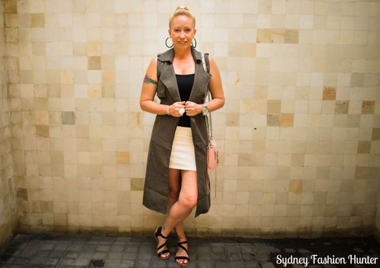 Sydney Fashion Hunter: Fresh Fashion Forum No 41 - Khaki Sleeveless Trench - Front2