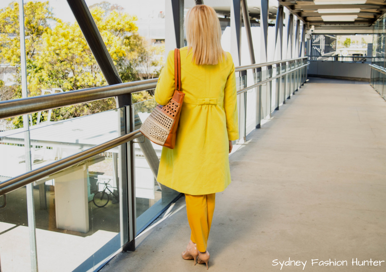 Fash Packing by Sydney Fashion Hunter: Fresh Fashion Forum 48 - Bright Yellow Wool Coat 2