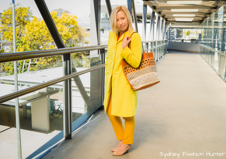Fash Packing by Sydney Fashion Hunter: Fresh Fashion Forum 48 - Bright Yellow Wool Coat 3