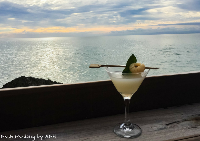 Fash Packing by Sydney Fashion Hunter: Rock Bar Jimbaran Bali - Lychee Martini