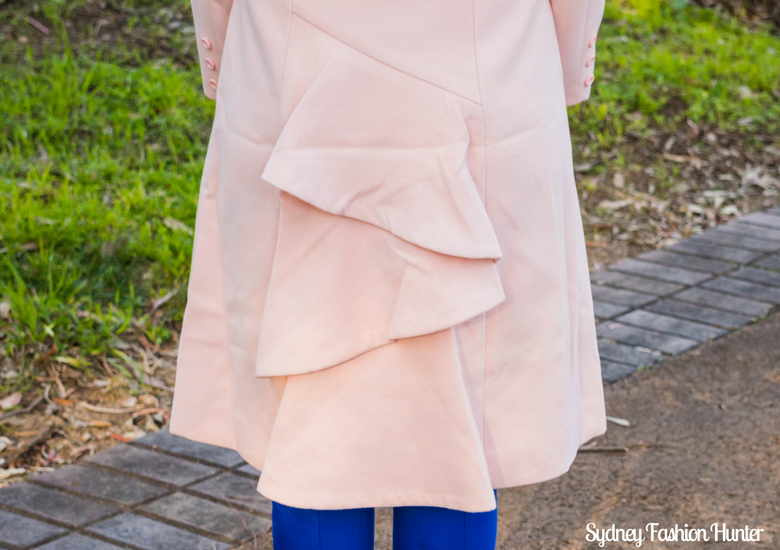 Sydney Fashion Hunter: Fresh Fashion Forum #46 - Pink Waterfall Coat - Coat Detail