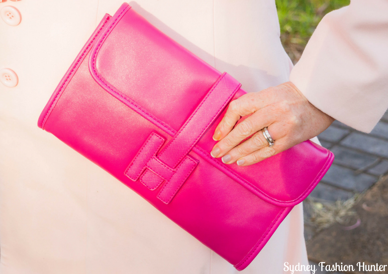 Sydney Fashion Hunter: Fresh Fashion Forum #46 - Pink Waterfall Coat - Hot Pink Bag