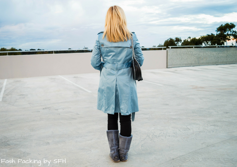 Fash Packing by Sydney Fashion Hunter: Black, White & Blue: Fresh Fashion Linkup 52 - Back