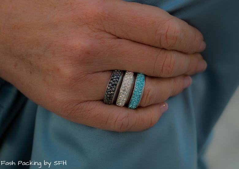 Fash Packing by Sydney Fashion Hunter: Black, White & Blue: Fresh Fashion Linkup 52 - Rings