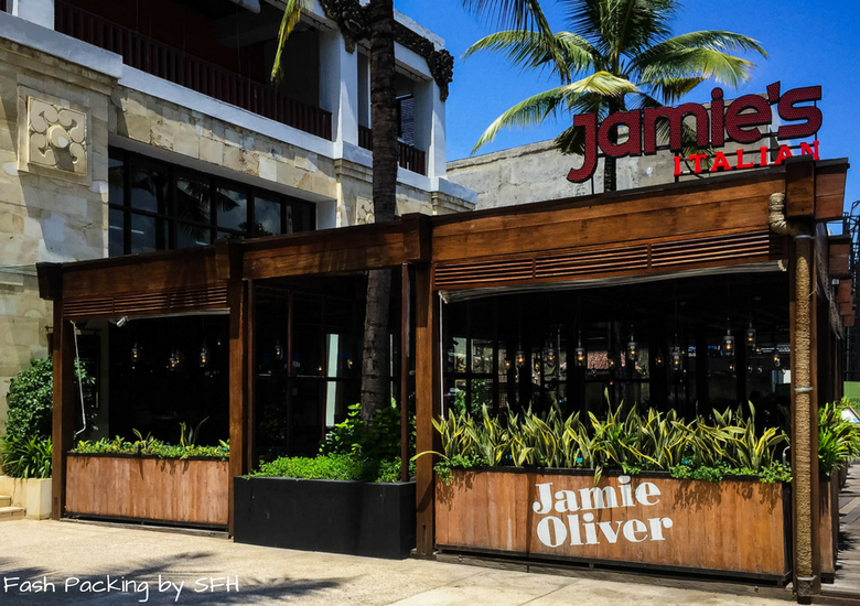 Fash Packing by Sydney Fashion Hunter: Restaurant Review - Jamie's Italian Kuta Bali - Exterior