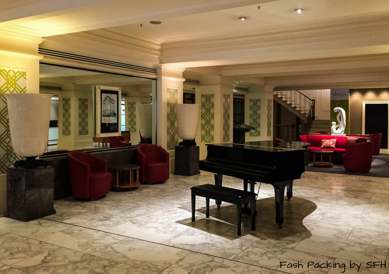 Fash Packing by SFH: Vibe Savoy Melbourne Hotel Review - Piano In Reception