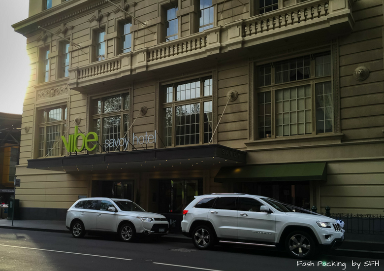Fash Packing by SFH: Vibe Savoy Melbourne Hotel Review - Exterior