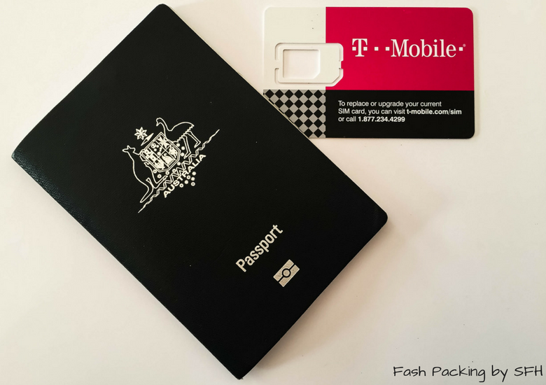 Fash Packing by Sydney Fashion Hunter: T-Mobile Tourist Plan - Phone