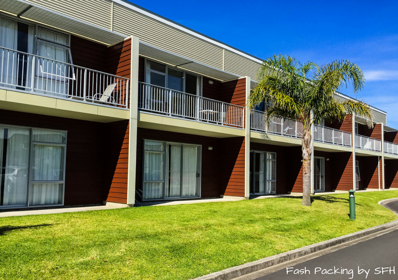 Fash Packing by SFH: Beachside Resort Whitianga New Zealand - Exterior Of Units