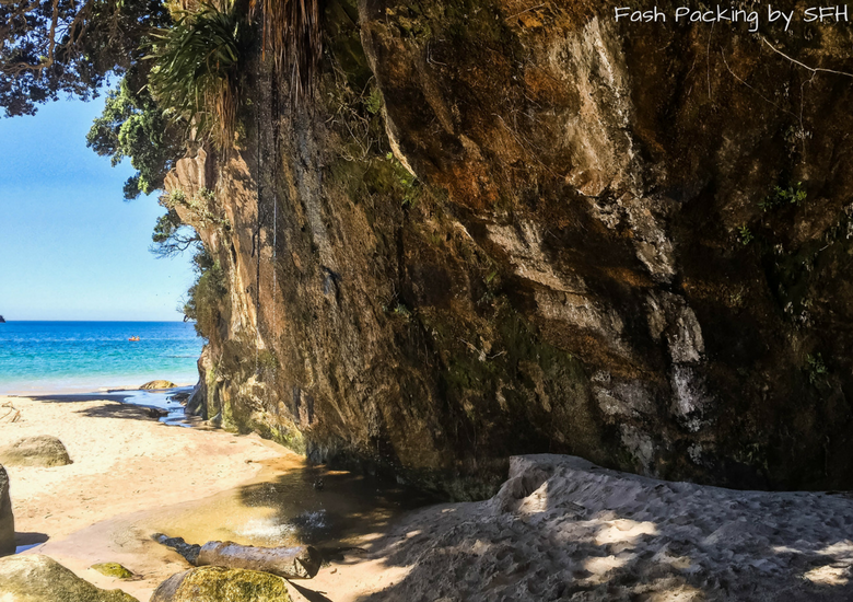 Fash Packing by SFH: Cathedral Cove Kayak Tours - Waterfall at Cathedral Cove