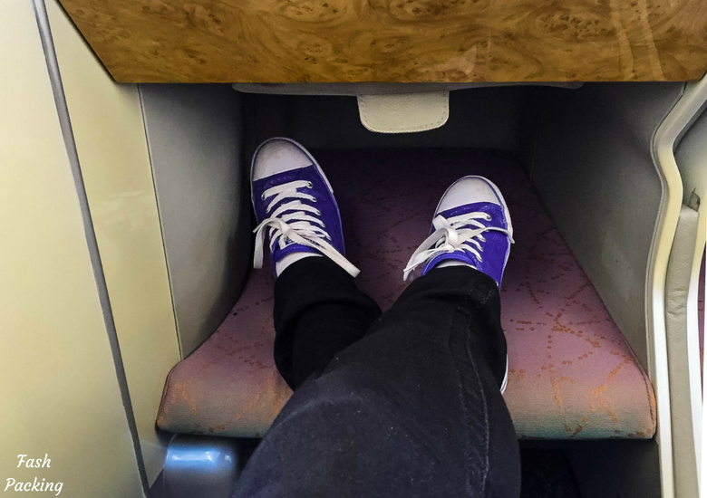 Fash Packing: Emirates A380 Business Class Review - Leg Room