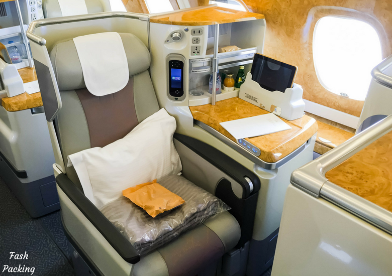 Fash Packing: Emirates A380 Business Class Review - Window Seat