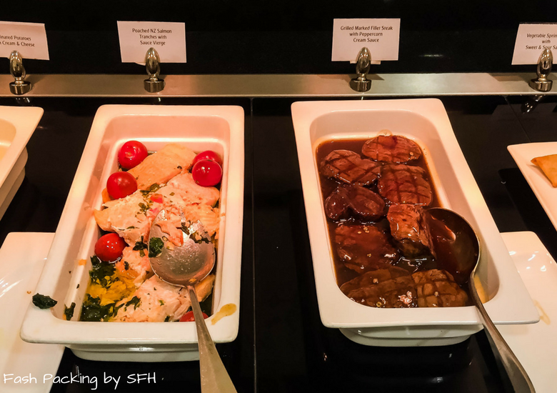 Fash Packing by SFH: Emirates A380 First Class Review - Auckland International Airport Emirates Lounge - Hot Buffet 1