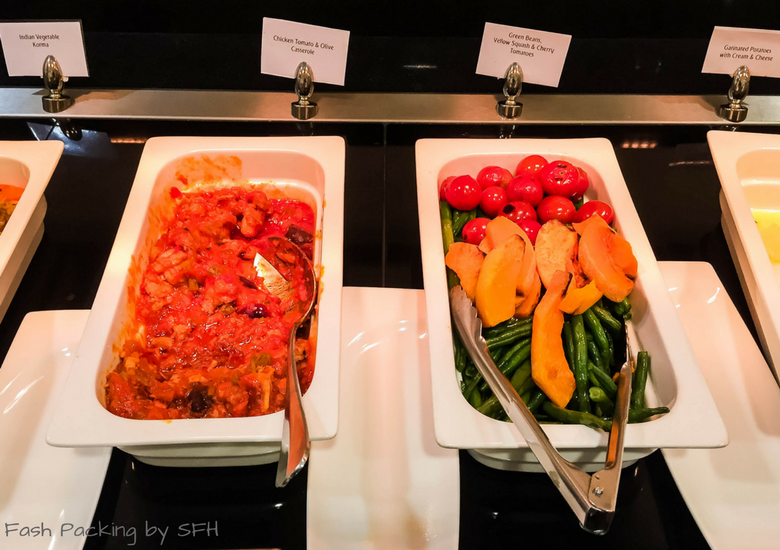 Fash Packing by SFH: Emirates A380 First Class Review - Auckland International Airport Emirates Lounge - Hot Buffet 3