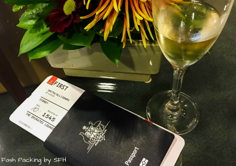 Fash Packing by SFH: Emirates A380 First Class Review - Auckland International Airport Emirates Lounge - Passport