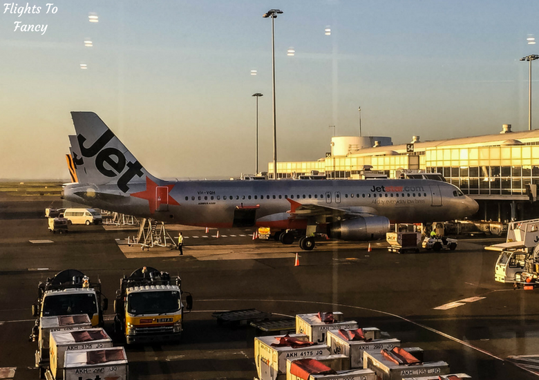 Flights To Fancy: Jetstar A320 Economy Class Review JQ745 SYD-LST - Plane At Sydney Airport