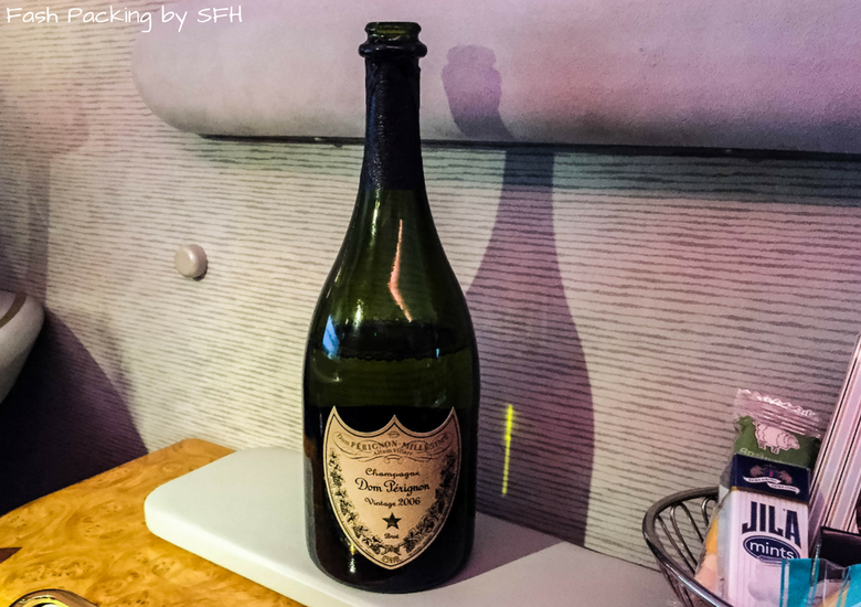 Dom Perignon Vintage 2006 in Emirtaes A380 first class suite
