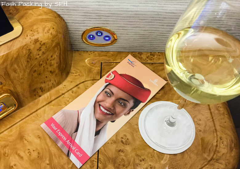 Wine onboard Emirates A380 First Class Review