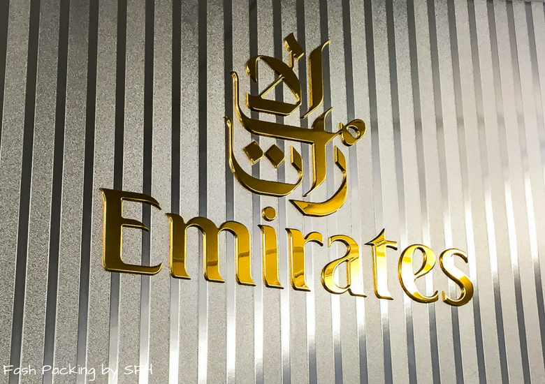 Fash Packing by SFH: Emirates A380 First Class Review EK419 Auckland to Sydney - Emirates Sign