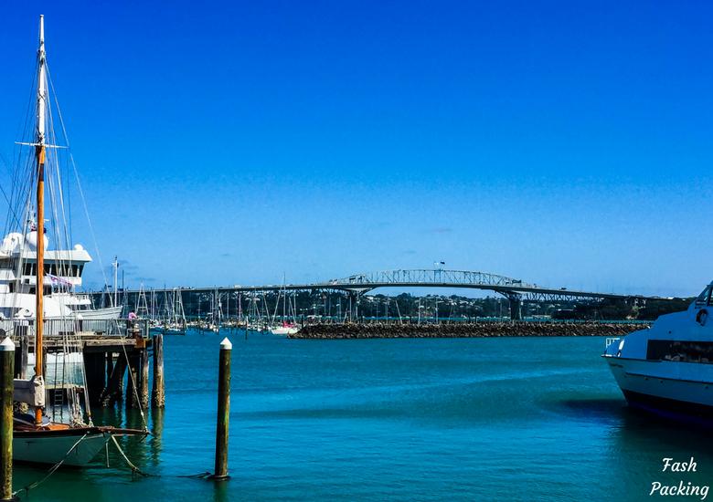 Fash Packing: A Stroll Through Auckland CBD & Viaduct Harbour - Auckland Viaduct Harbour View To Auckland Harbour Bridge