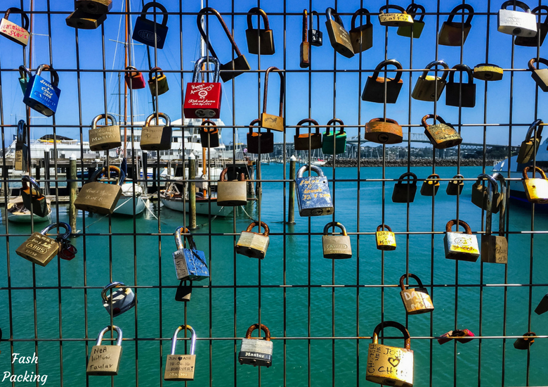 Fash Packing: A Stroll Through Auckland CBD & Viaduct Harbour - Auckland Viaduct Harbour Love Lock Wall