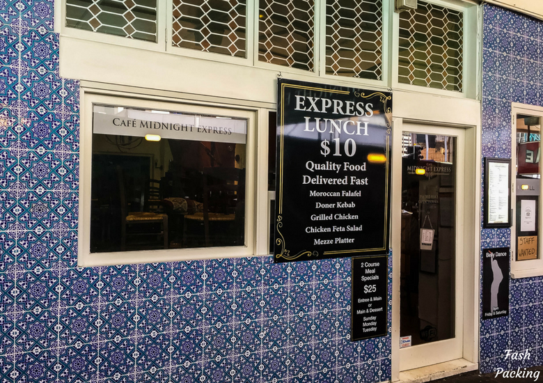 Fash Packing: Cafe Midnight Express Auckland - Exterior