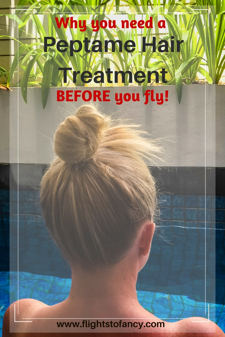 A Peptame hair treatment before you jet off will give you weeks of worry free hair during your travels. This revolutionary treatment straightens hair without harsh chemicals, makes hair manageable and banishes frizz. Even in SE Asian humidity! You gotta try this!