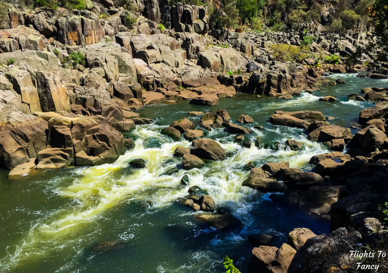 Flights To Fancy: A Rainy Day In Spectacular Cataract Gorge Launceston - Rapids