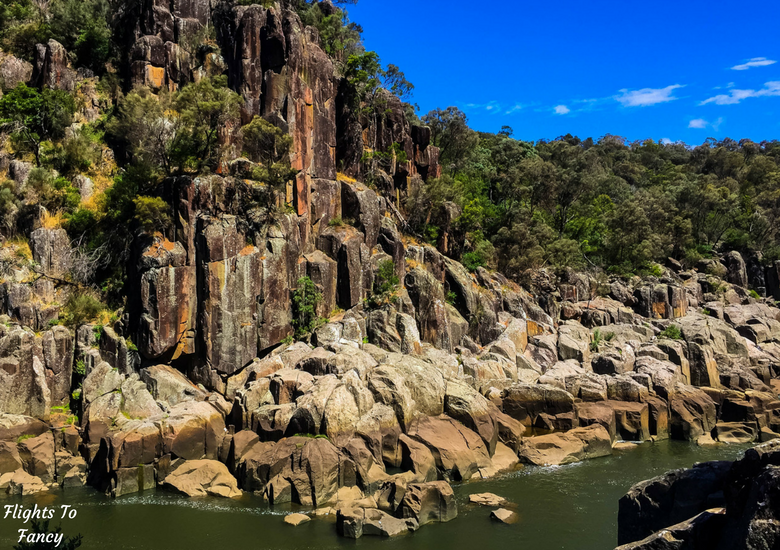 Flights To Fancy: A Rainy Day In Spectacular Cataract Gorge Launceston - River Bank