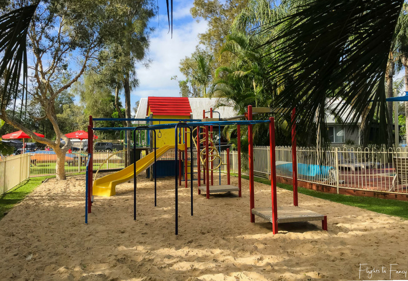 Forster Camping: Kids Playground at Great Lakes Caravan Park