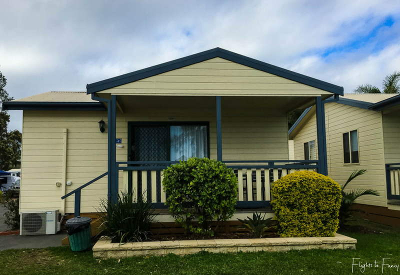 Waterfront Cabin at Great Lakes Forster Caravan Park