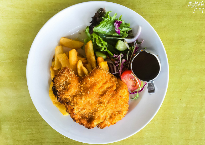 Flights To Fancy: Bicheno Tasmania Freycinet's Most Affordable Town - Beachfront Bicheno Restaurant Chicken Schnitzel