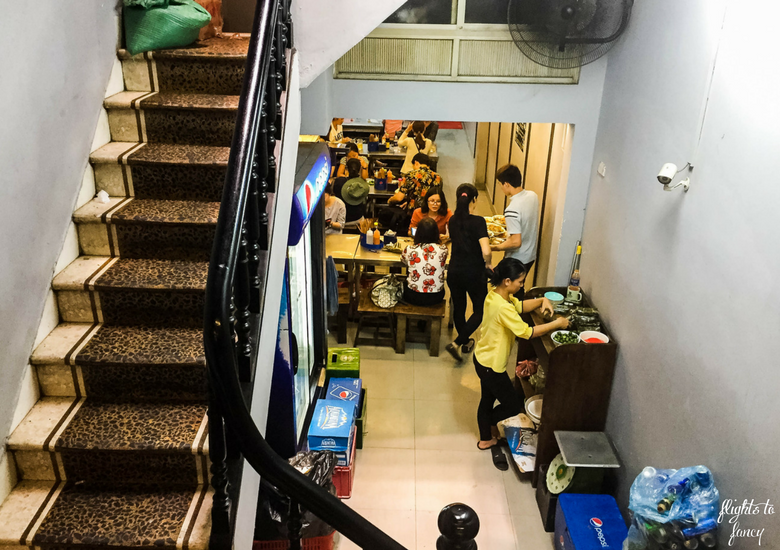 Flights To Fancy: Is Bun Bo Nam Bo Hanoi The Best Street Food In Hanoi? Restaurant InteriorStairs
