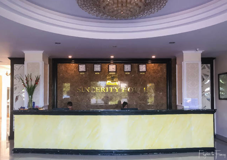 Flights To Fancy: Hoi An Hotel - Hoi An Sincerity Hotel Reception