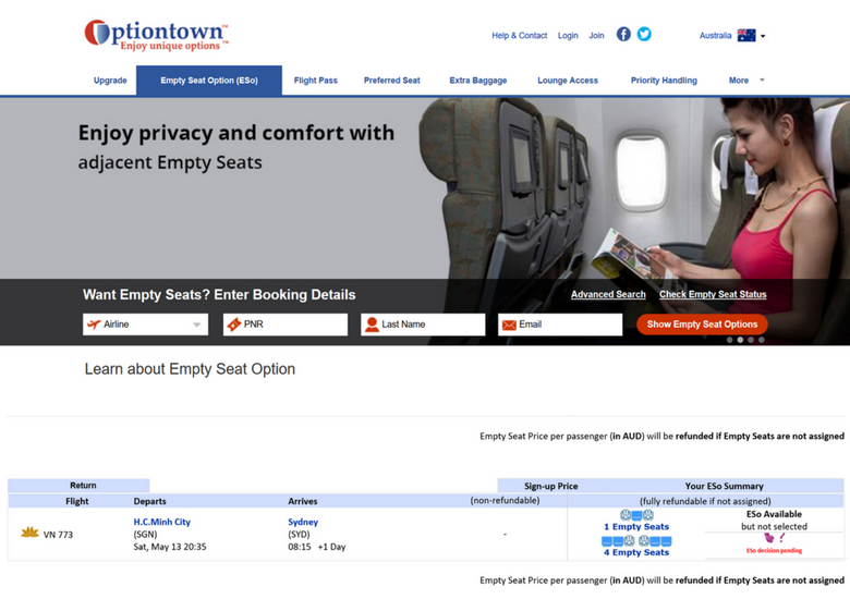 Flights To Fancy: How To Get Cut Price Airline Perks With Optiontown - Optiontown Empty Seat Option
